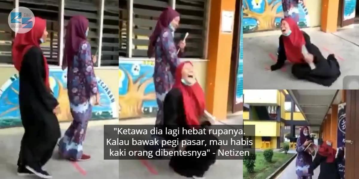 [VIDEO] Jenis Cepat Terhibur, Gelagat Gadis Ini Buat Ramai Berdekah Sekali