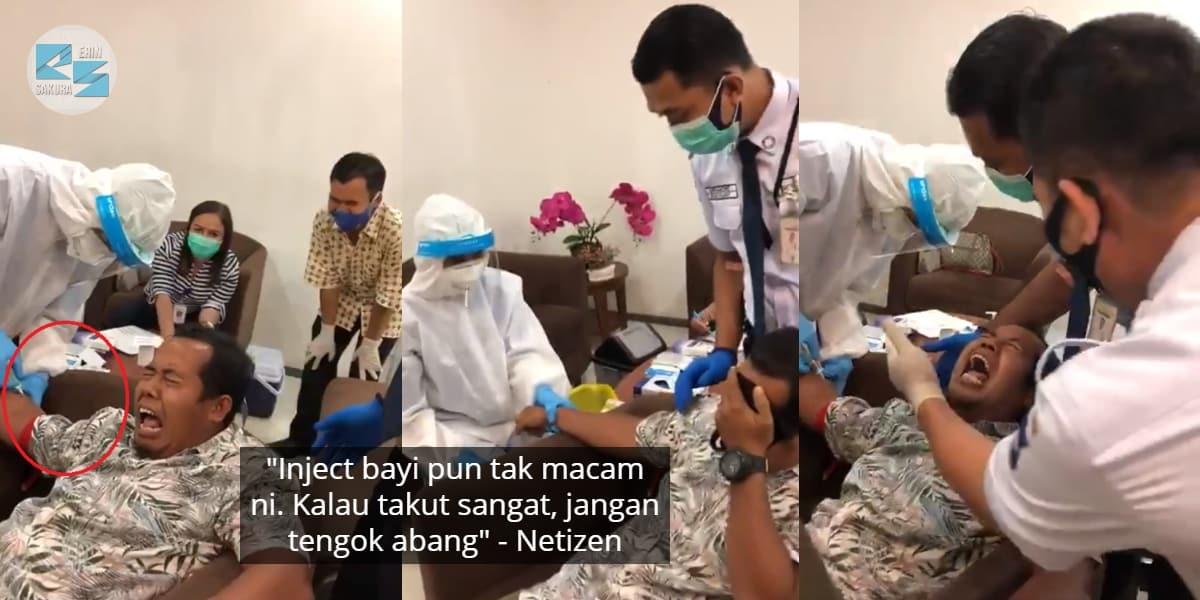 [VIDEO] Nervous Nak Kena Suntik, Gelagat Lelaki Terkaku Cuit Tumpuan Netizen