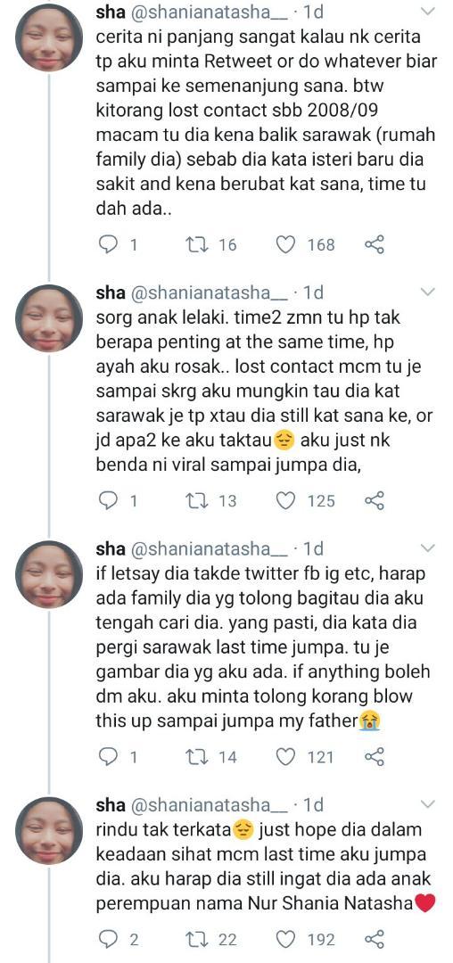 Terpisah Lepas 12 Tahun, Gadis Nekad Guna Kuasa Twitter Cari Ayah Akhirnya..