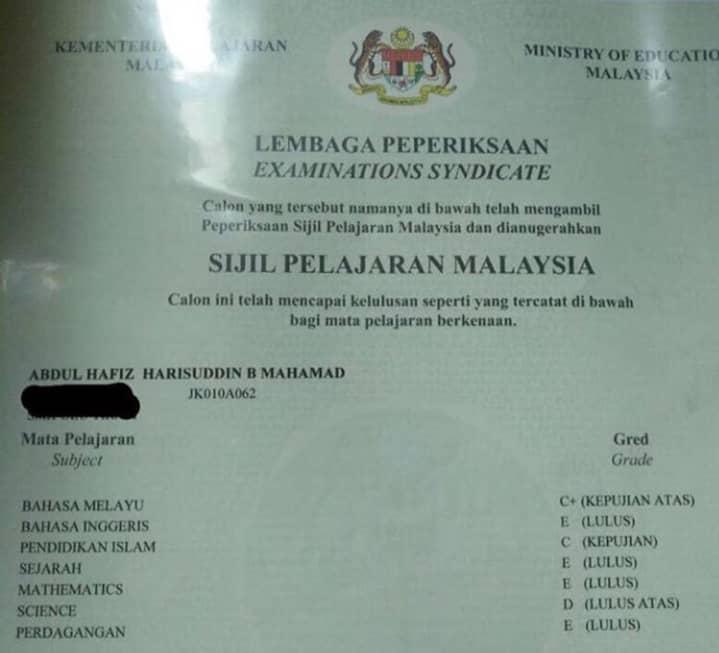 Dibidas Peguam Kerana Bangga Tunjuk Result SPM Gagal, Ini Respon Hafiz Mahamad