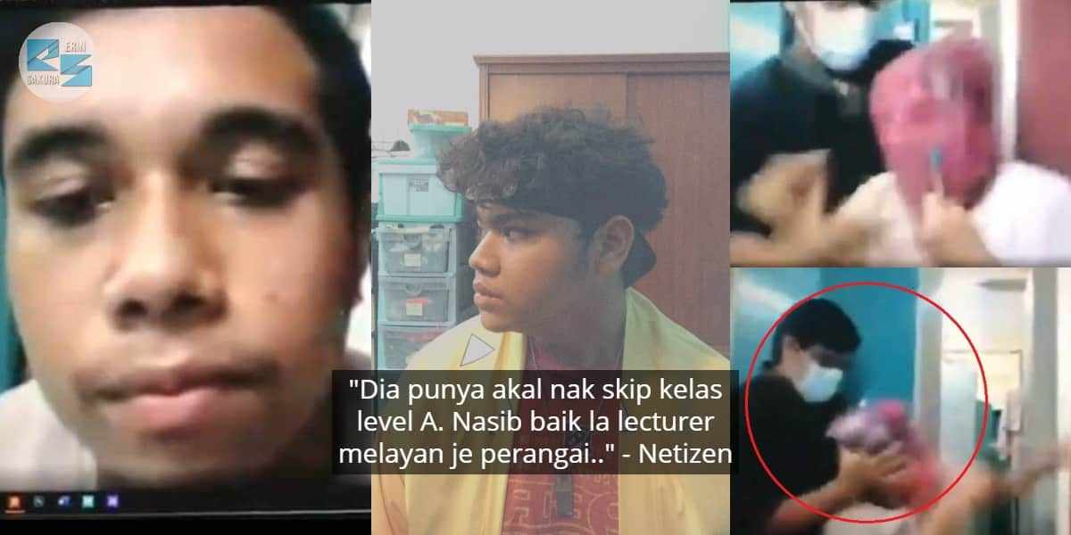 [VIDEO] Kepala Diserkup Plastik Masa Kelas Online, Berdekah Bila Lecturer Jerit