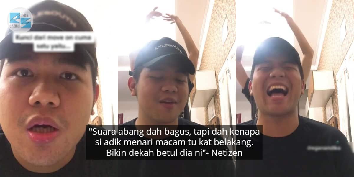 Baru Nak Nyanyi Lagu Sendu, Abang Pasrah Adik Jadi Back Up Dancer Di Belakang