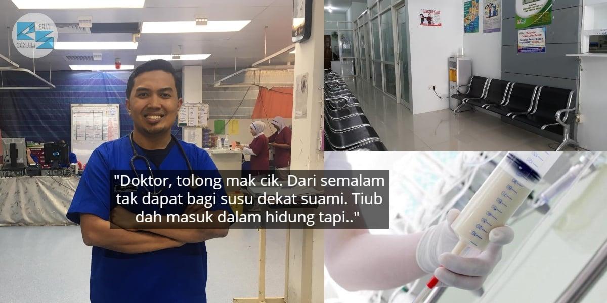 Sebak Lihat Suami Strok Lapar, Isteri Merayu Doktor Betulkan Tiub Di Rumah