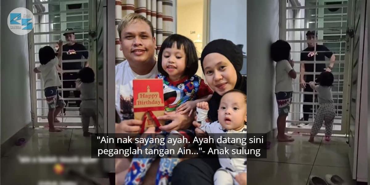 Berpisah Sementara, Isteri & Anak Shuk Kena Kuarantin Baru Balik Dari Sabah