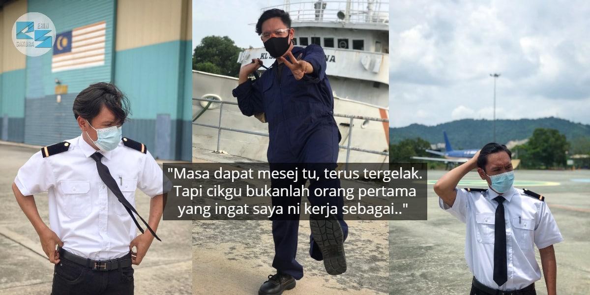 Gambar Pakai Uniform Hitam Putih, Tak Sangka Respons Bekas Guru 'Win' Habis..
