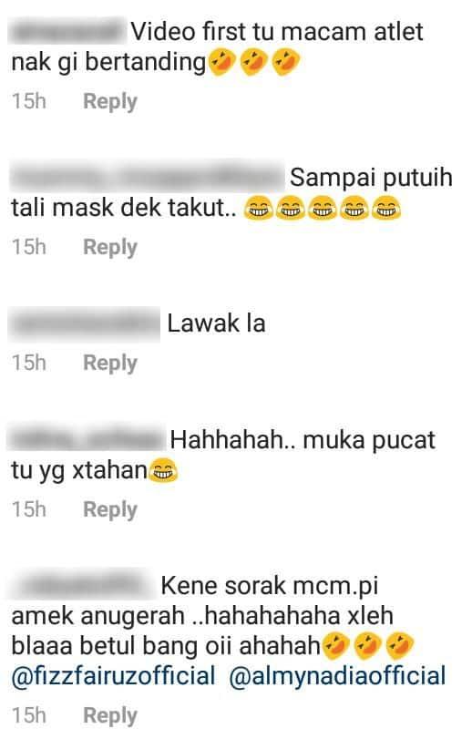 [VIDEO] Cuak Kena Swab Test, Gelagat Dato' Fizz Fairuz Buat Warm Up Lucu Habis