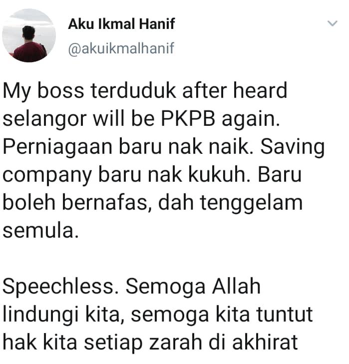 """Bos Terduduk Kecewa Dengar Selangor Kena PKPB – """"Syarikat Baru Nak Kukuh"""""""