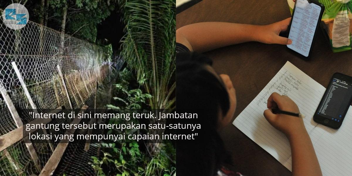 Semata-Mata Cari Akses Internet Untuk Kelas Online, 3 Pelajar Jatuh Jambatan