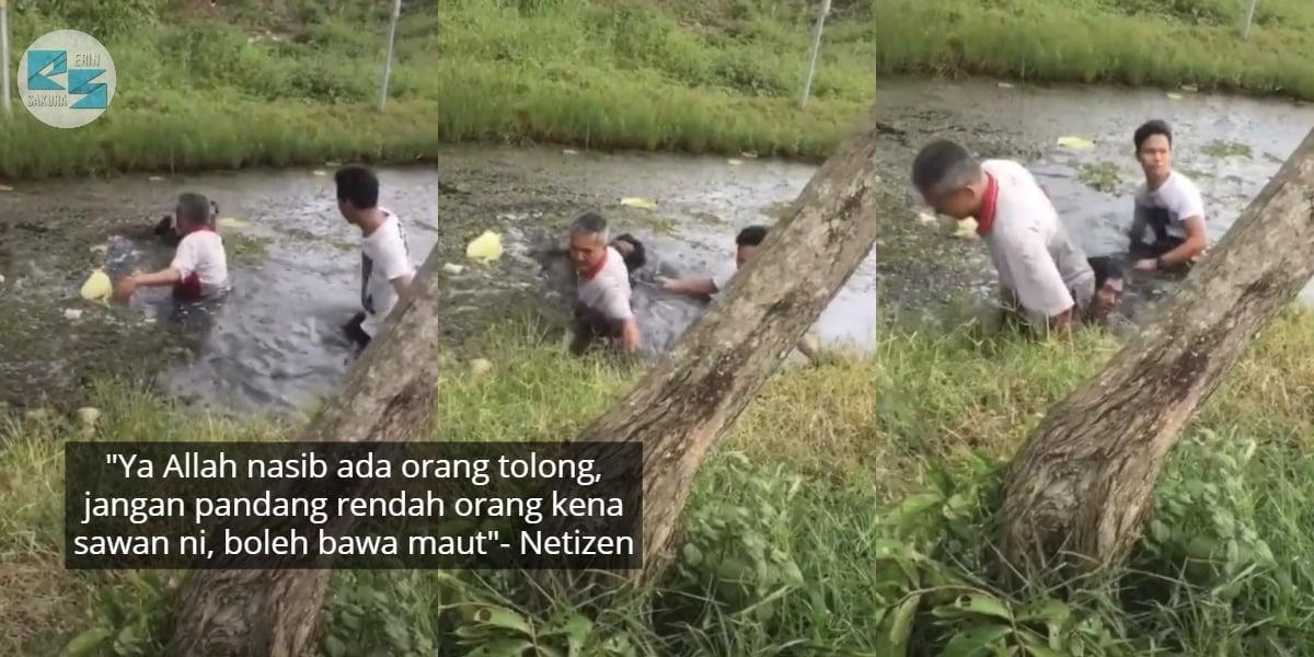 [VIDEO] Dengar Jeritan Dari Sungai, Rupanya Lelaki Kena Sawan Ketika Memancing