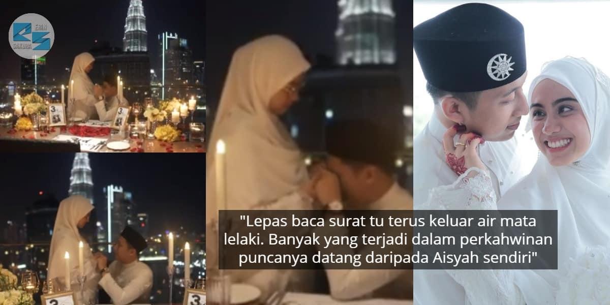 [VIDEO] Berbaju Nikah Sambut Anniversary, Suami Nangis Teringat Dugaan Kahwin