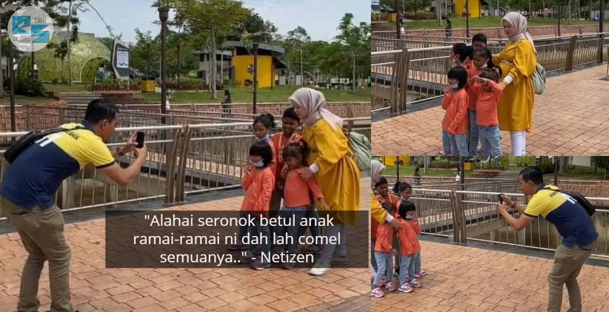 [VIDEO] Demi Sekeping Gambar, Parents Struggle Kumpul Anak-Anak Tengah Panas