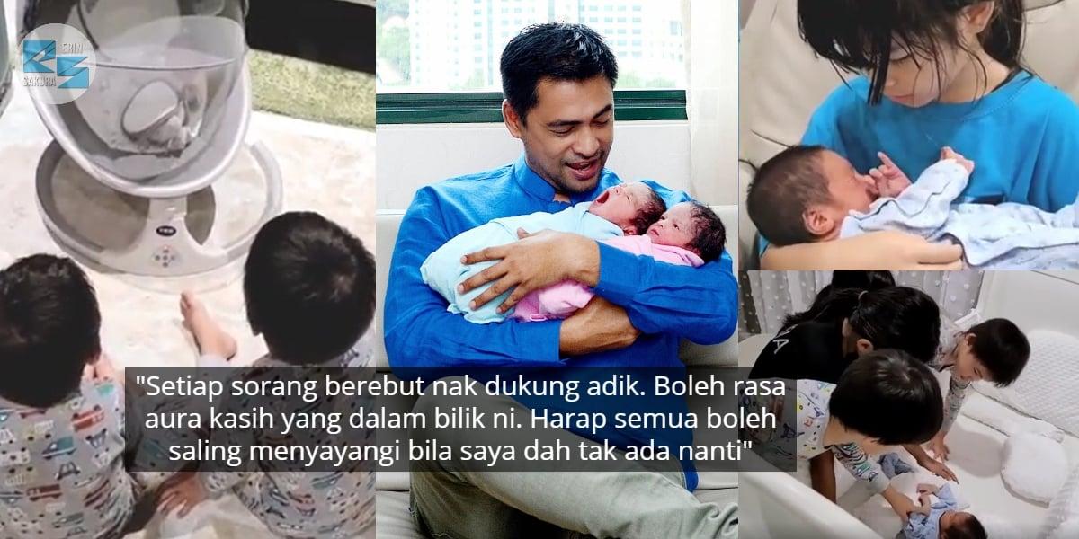 Siap Tunggu Depan Pintu, Ini Reaksi Anak Dr. Sheikh Muszaphar Sambut Baby Twin