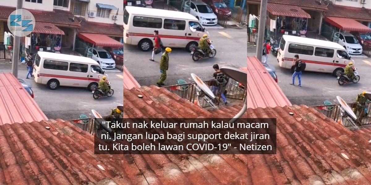 """Risau Ambulans Angkut Jiran Sebab Covid-19 -""""Semalam Kiri, Hari Ni Kanan Rumah"""""""