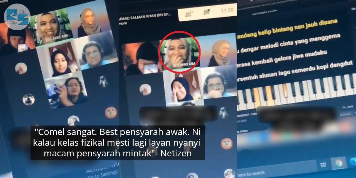 [VIDEO] Lambat Masuk Kelas Online , Pelajar Kena Denda Nyanyi Lagu Kopi Dangdut