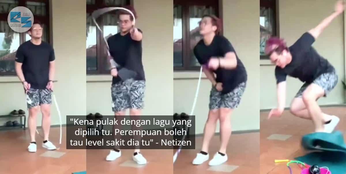 "Nak Buat Freestyle, Pemuda Senak 'Disebat' Tali Skipping -""Tengok Pun Terasa"""