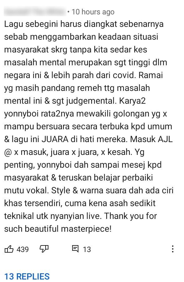 Lagu Bertemakan Kesedaran Depression, Ramai Harap Yonnyboii & Zynakal Ke AJL35