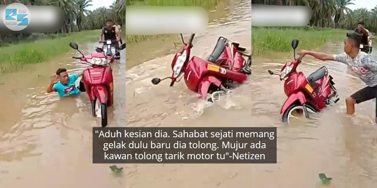 [VIDEO] Redah Banjir Dalam Kelapa Sawit, Berdekah Member Tenggelam Masuk Air