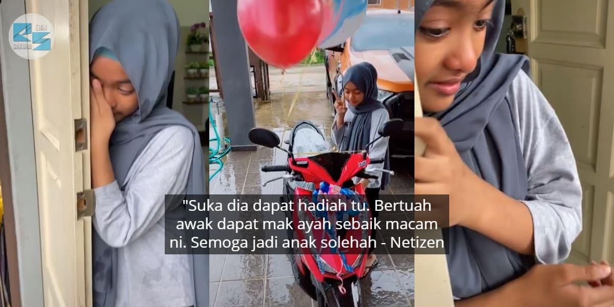 [VIDEO] Ibu Prank Marahkan Anak Sampai Menangis, Rupanya Nak Bagi Hadiah Motor