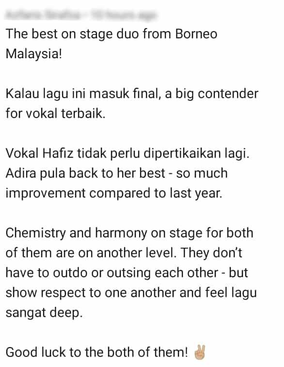 Vokal Paling Mantap, Peminat Harap Hafiz & Adira Dapat Masuk Final AJL Ke-35