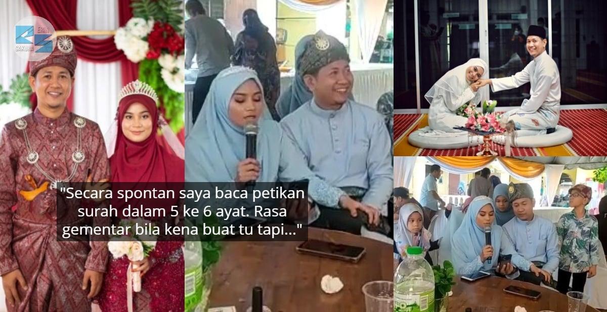 Viral Taranum Merdu Di Wedding Sendiri, Rupanya Pernah Masuk Peringkat Negeri