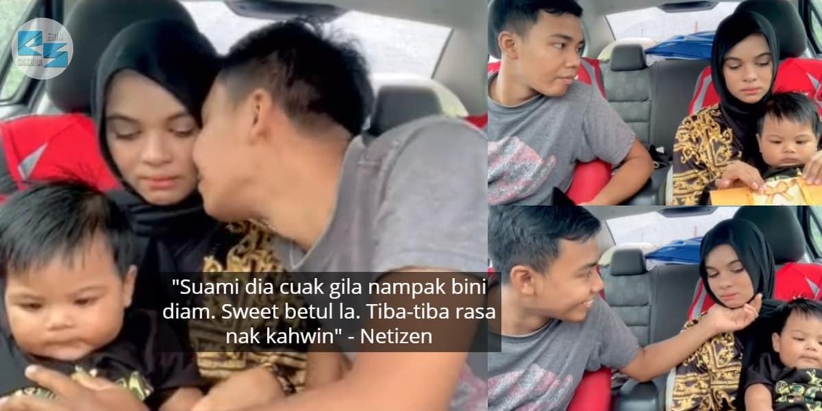 [VIDEO] Merajuk Tak Pakai Baju Sama, Sekali Bini 'Cair' Termakan Pujuk Suami..