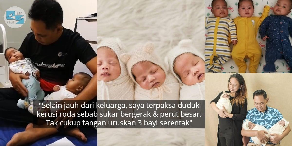 [VIDEO] Habis RM40k Buat Rawatan IVF, Wanita Bersalin Normal Timang Kembar 3