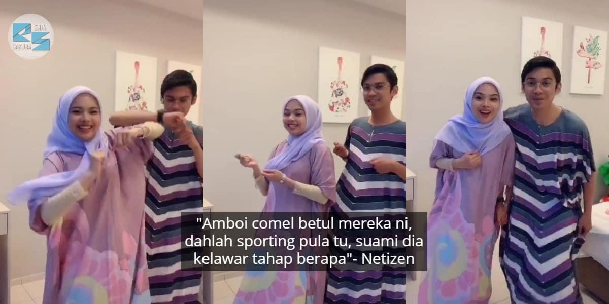 [VIDEO] Suami Isteri Ikut Trend Tarian Semongko, Siap Pakai Baju Kelawar Lagi
