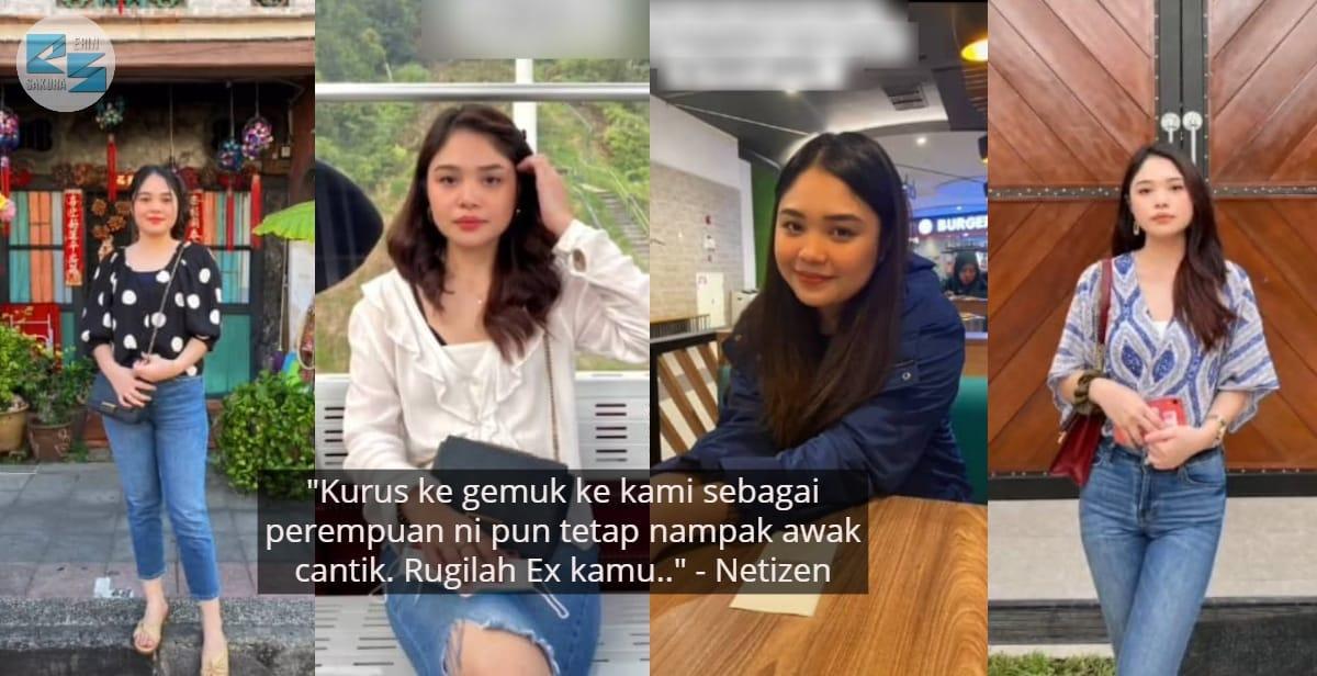 Ex Tinggal Sebab Berisi, Gadis Makin Slim Syukur Boyfriend Baru Terima Seadanya