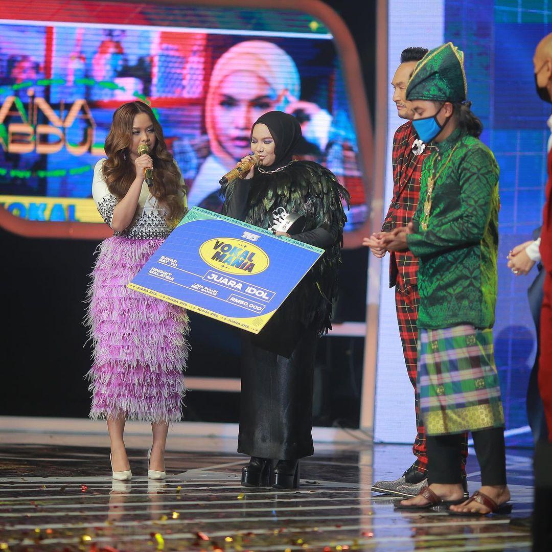 [VIDEO] Queen Of Vocal, Tepat Ramalan Netizen Aina Abdul Juara Idol Vokal Mania