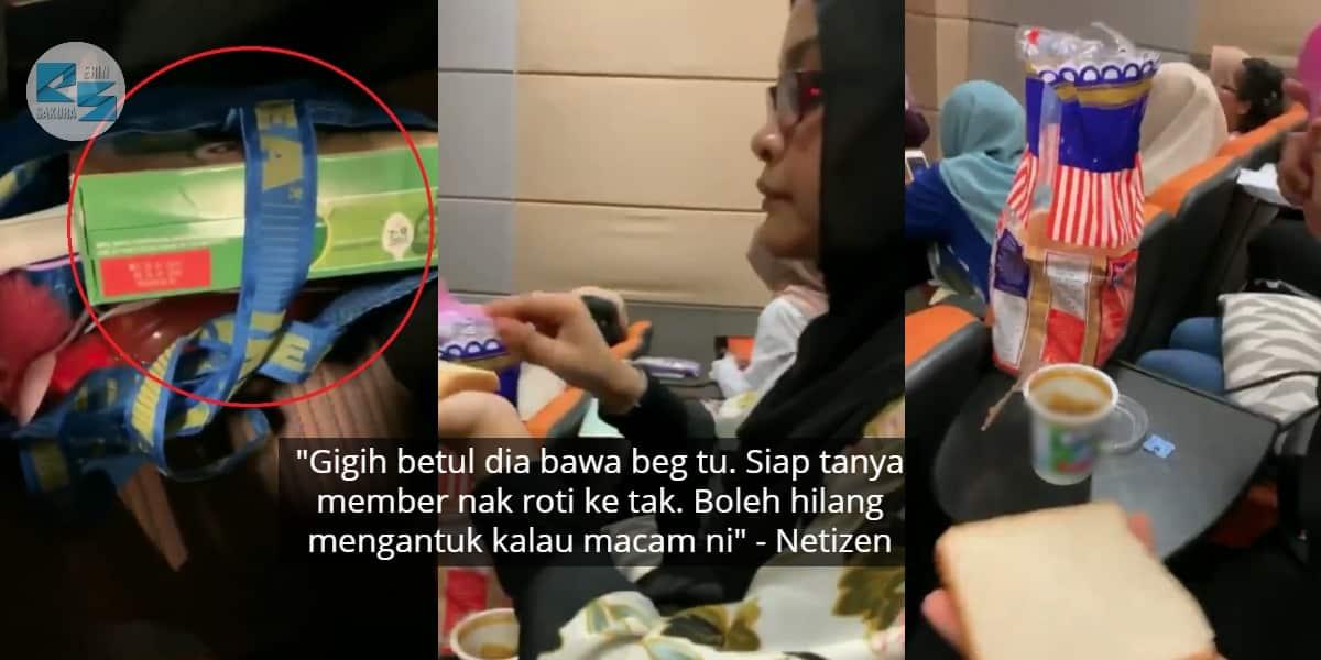[VIDEO] Seludup Beg Penuh Makanan Dalam Kuliah, Siap Sapukan Jem Untuk Member