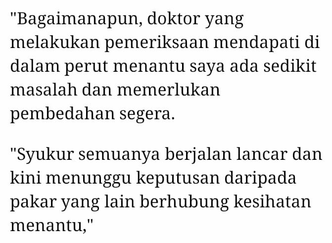 Syafiq Lebih Bersemangat Dari Semalam, Isteri Selamat Jalani Operation Perut