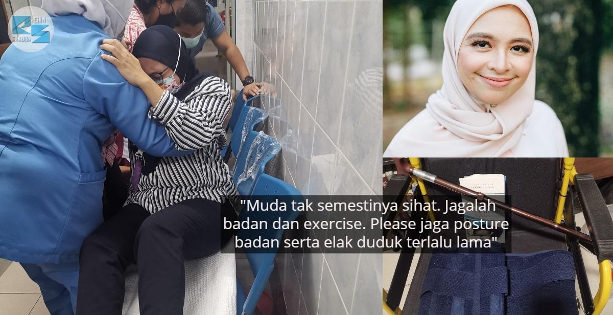 Wanita Kongsi Pengalaman Pilu, Duduk Terlalu Lama Punca Hidap Slip Disc