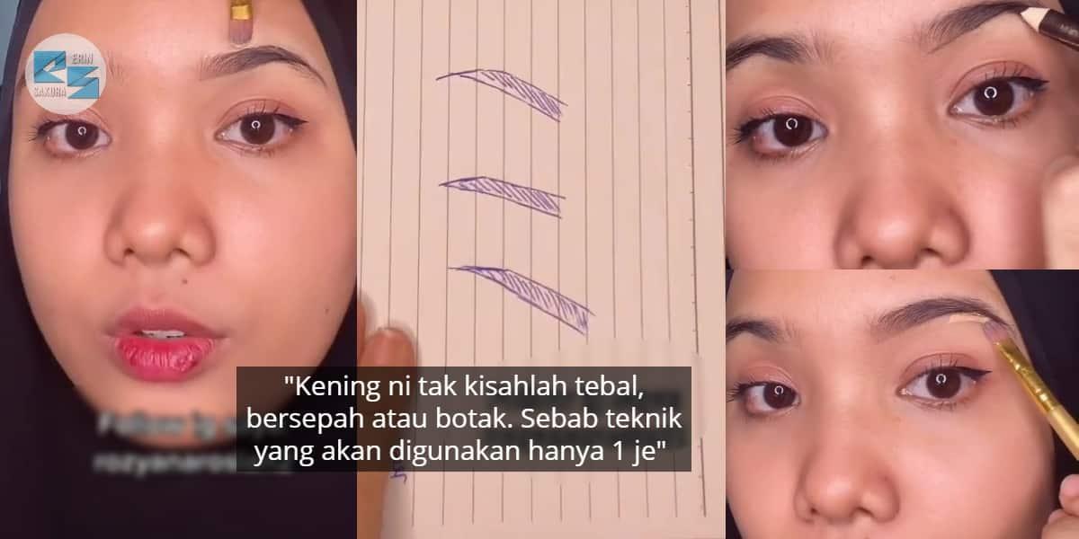 [VIDEO] Makeup Dah Cantik, Tapi Tak Reti Lukis Kening? Guna Je Cara Senang Ni