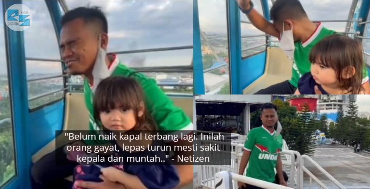 [VIDEO] Cover Macho Naik Ferris Wheel, Suami Kantoi Dengan Bini Gayat Rupanya