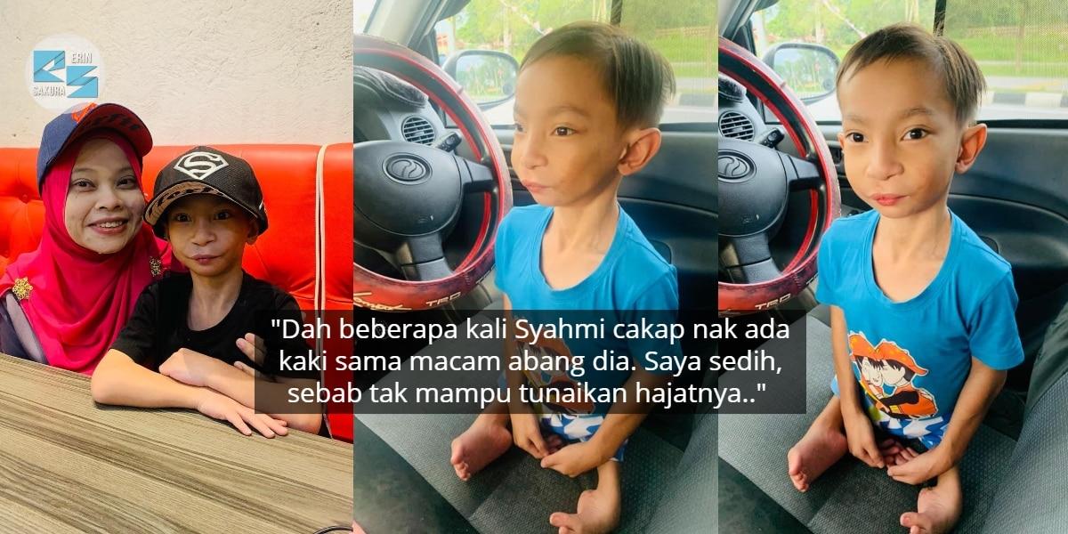 Viral Adik Syahmi Nak Hadiah Kaki, Ibu Dedah Pernah Disaran Gugurkan Kandungan