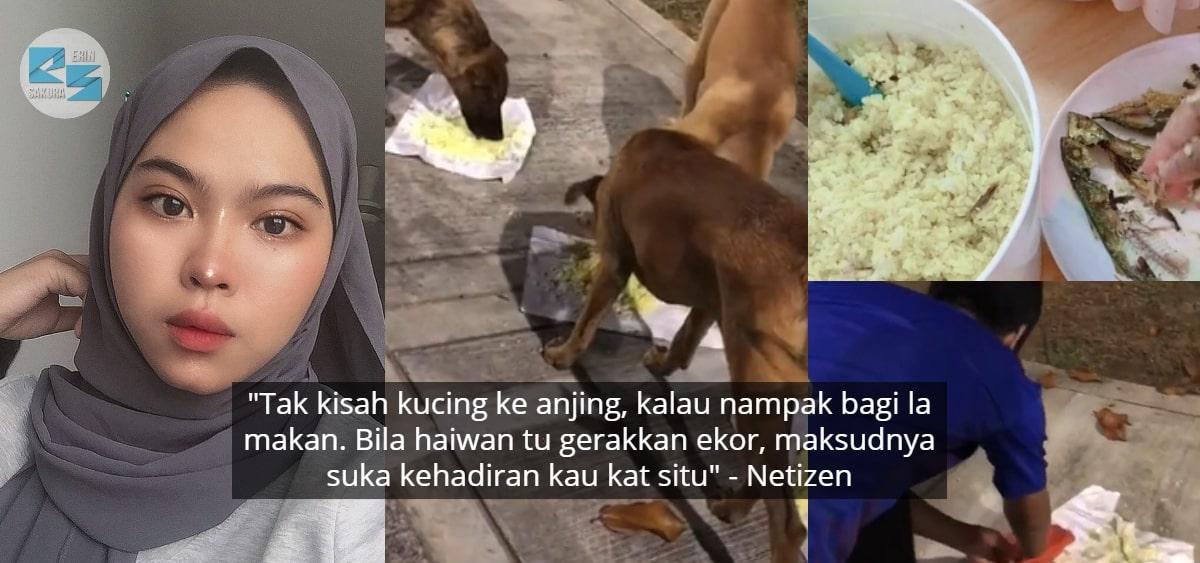[VIDEO] Dikecam 'Tapau' Nasi Guna Kertas, Tapi Tak Serik Sedekah Pada Anjing