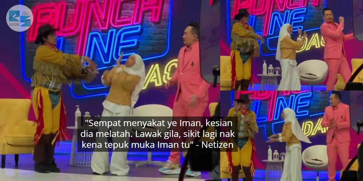[VIDEO] Baru Nak Feeling Menari, Iman Troye Ambil Peluang Sakat Hos Kuat Latah