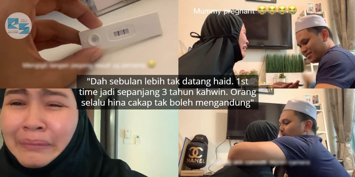 [VIDEO] Suami Baru Habis Kuarantin, Isteri Teriak Baca Pregnancy Test Positif