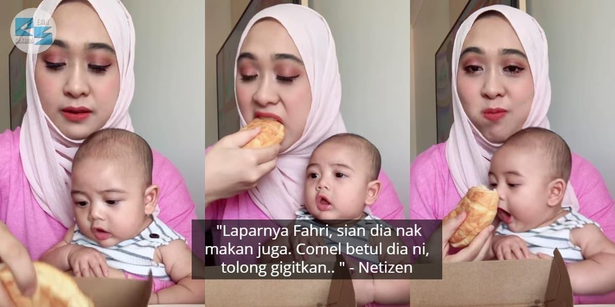 [VIDEO] Anak Terliur Tengok Dayah Bakar Makan, Sikit Lagi Dapat Gigit Roti