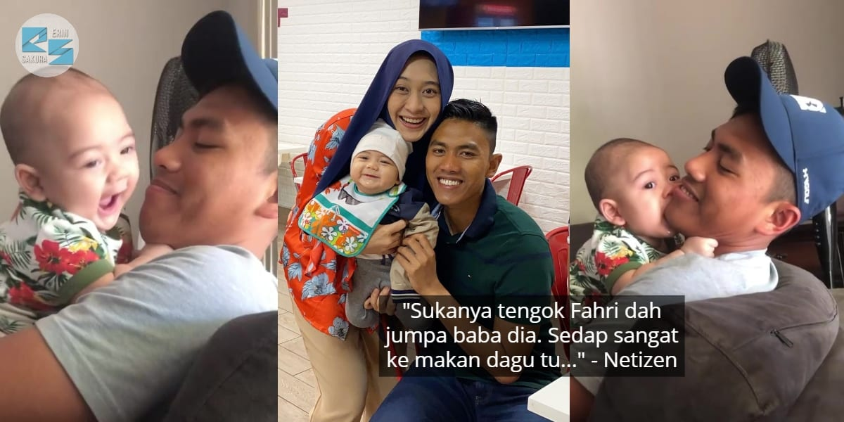 [VIDEO] Anak Dayah Bakar Cepat Mesra, Walau First Time Jumpa Ayah Sejak Lahir