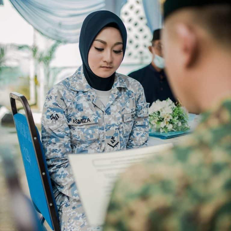Tentera Niat Nak Daftar Saja, Tak Sangka Terus Nikah Pakai Uniform