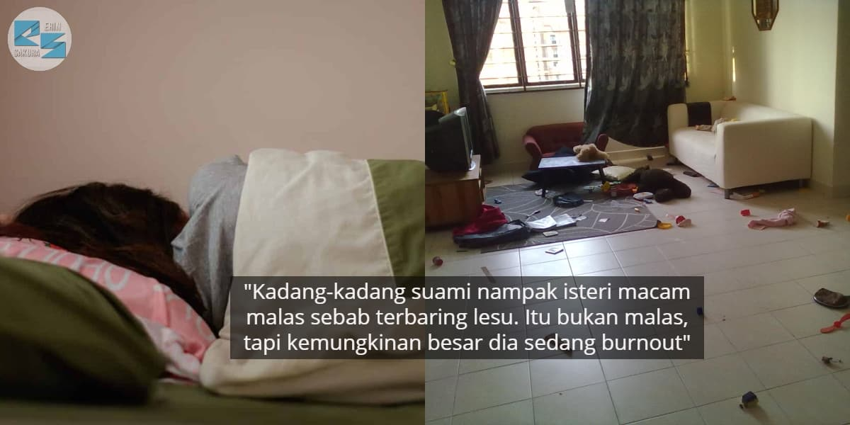 Suami Nampak Isteri Terbaring Lesu Macam Pemalas, Rupanya Emosi Tengah Penat
