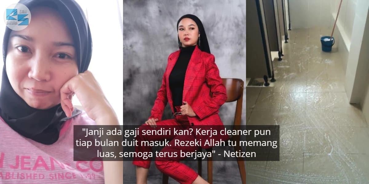 [VIDEO] Janji Halal & Tak Memilih, Model Bangga Dedah Kerja Jadi Cleaner