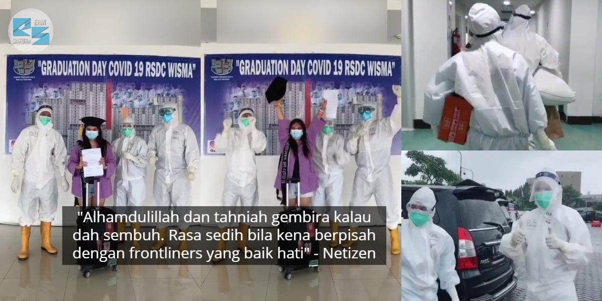 [VIDEO] 18 Hari Kuarantin, Gadis Raikan Bebas COVID Ala-Ala Konvo Universiti