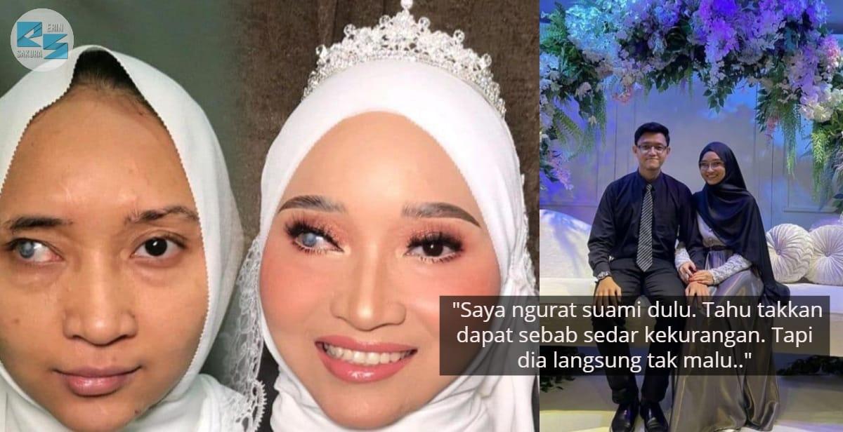 Pengantin Viral Makeup Serupa Dengan Ayda Jebat, Syukur Suami Ikhlas Mencintai